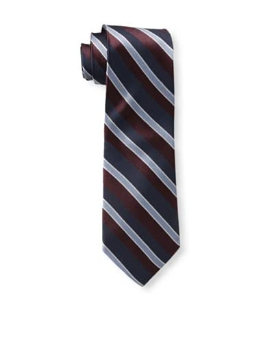 English Laundry Men's Wide Diagonal Tie, Navy/Red