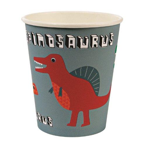 Meri Meri Dinosaur Party Cups -- Two Packs -- 24 Cups Total