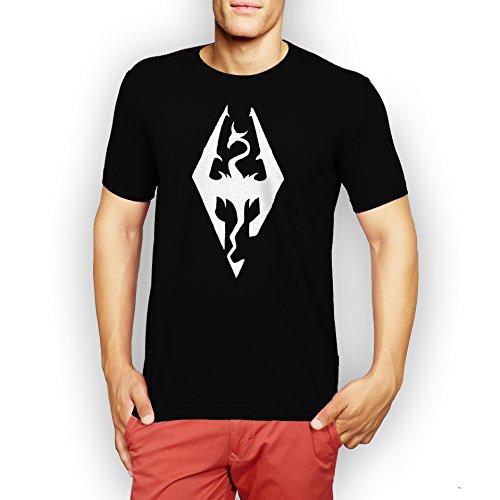 Elder Scrolls Skyrim Logo Medium Uomini T-Shirt