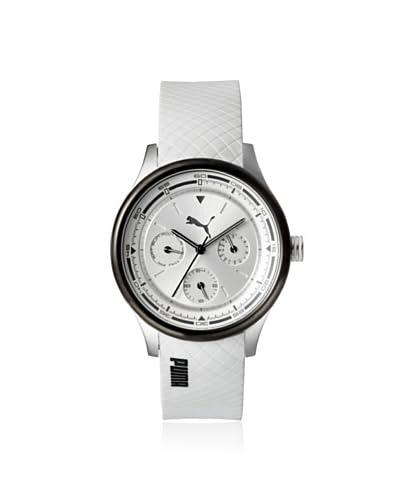 Puma Women's PUMA-PU102742005 White/Silver Rubber Watch
