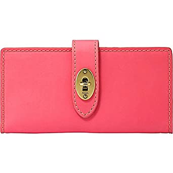 FOSSIL Austin Checkbook Clutch Wallet Flamingo Pink at Amazon Women
