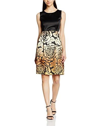 MAIOCCI Kleid schwarz/gold