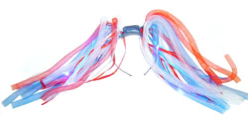WeGlow International USA Light Up Noodle Bopper, Red/White/Blue, 2-Piece