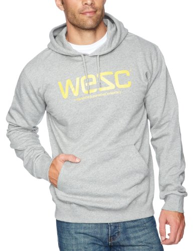 WeSC Hooded Men's Sweatshirt Grey Melange Large