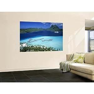 48x72 walter bibikow pearl beach resort for Bora bora wall mural