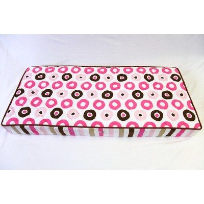 Mod Dots/Stripes Pink/choco Dots changing pad cover