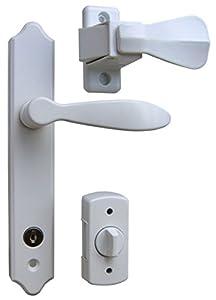 Ideal Security Sk1215w Deluxe Storm Door Handle Set With