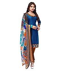 DnVeens Women's Synthetic Unstitched Salwar Suit Dress Material