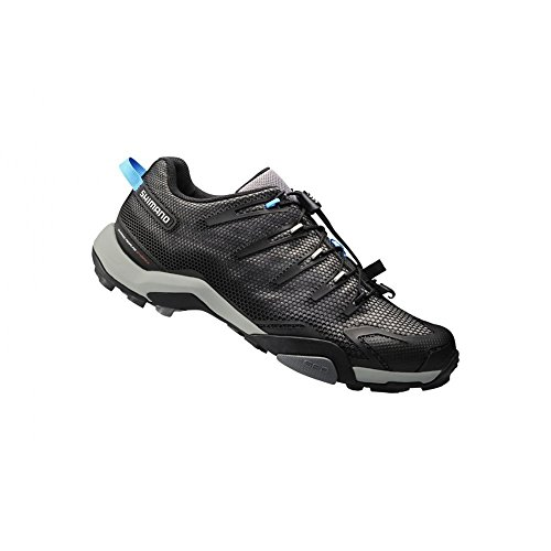 Shimano 2015 Men's Recreational/Mountain Touring Bike Shoe - SH-MT44L (Black - 46) (Mens Cycle Shoes compare prices)