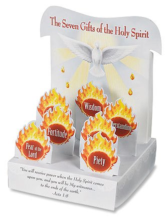 Catholic Teen Confirmation Gift The Seven Gifts of the Holy Spirit 3D Stand Up Classroom Table Decoration