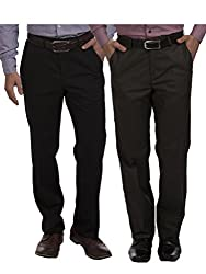 Sangam Apparels Mens Formal Trousers Set of 2