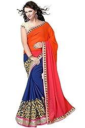 Radhe Krishna Creation Georgette Multi color saree