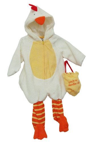 Rooster Cock A Doodle Doo Baby Bag Hat And Zip Up Bodysuit Costume Two Piece Set