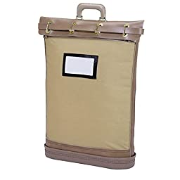 MMF Industries Security Mail Bag with Padlock, 18 x 24 x 5.25 Inches, Tan (206482409)