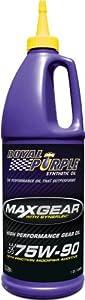 Royal Purple 01300 Max Gear 75W-90 High Performance Synthetic Automotive Gear Oil - 1 Quart by Royal Purple