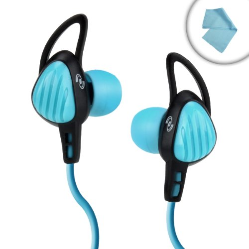 Hi-Fi Ipx-7 Waterproof In-Ear Stereo Headphones With Enhanced Bass Works With Lifeproof , Grace Digital Eco Extreme , Drycase And Many More Waterproof Cases! *Includes Bonus Cleaning Cloth*