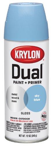 Krylon 8813 'Dual' Gloss Sky Blue Paint and Primer - 12 oz. Aerosol