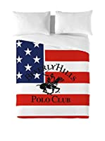 Beverly Hills Polo Club Juego De Funda Nórdica Pacific (Rojo / Azul)