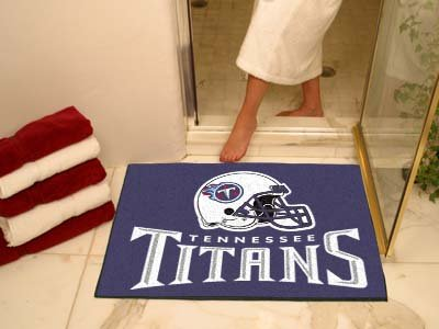 NFL Tennessee Titans Chromo Jet Printed Rectangular Area Rug Floor Mat 45