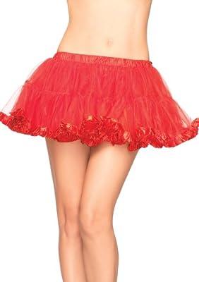 Leg Avenue Petticoat with Pleated Satin Trim