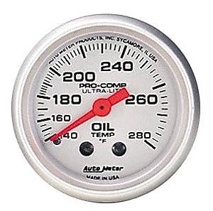 Auto Meter 4341 Ultra-Lite Mechanical Oil Temperature Gauge