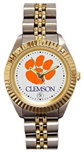 Clemson University Tigers Ladies Executive Stainless Steel Sports Watch by SunTime