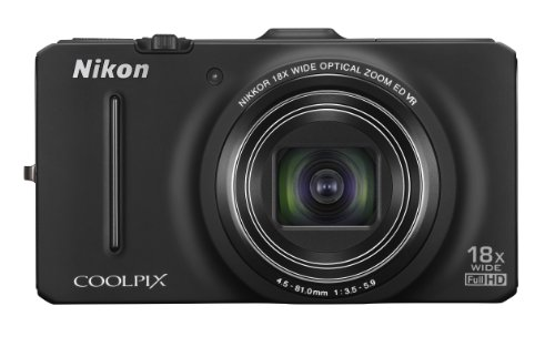 Nikon COOLPIX S9300 16 MP CMOS Digital Camera with 18x Zoom NIKKOR ED Glass Lens and Full HD 1080p Video (Black)