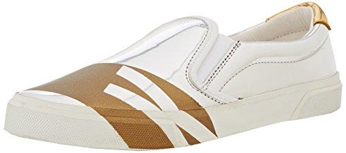 Bikkembergs Rubb-Er 690 Slip On W Shiny S.Leather, Scarpe Low-Top Donna, Argento (Silver/Gold), 38 EU
