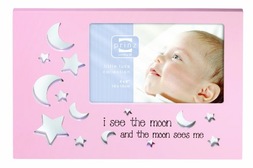 Prinz 6 by 4-Inch Starbright Pink Wood Frame