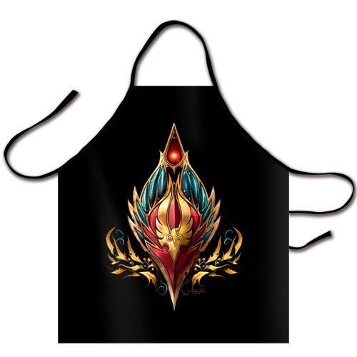 Chiho WOW Female Blood Elf Logo Chef Kitchen Bib Apron (Grease Female Characters)