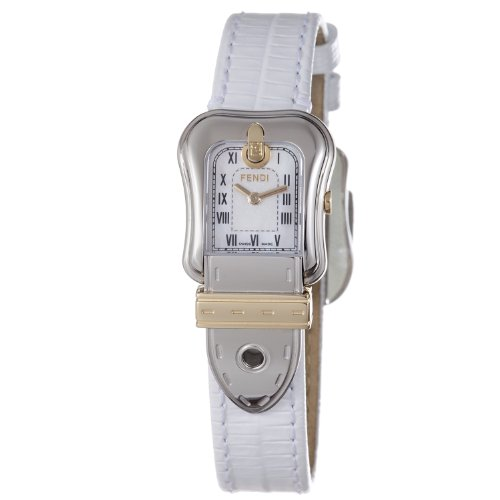Fendi B.Fendi Lizard Two-Tone Small Mother-of-Pearl Dial Women's Watch #F372244