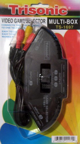 AV RCA Audio S Video Game Selector Switch DVD Xbox PS2