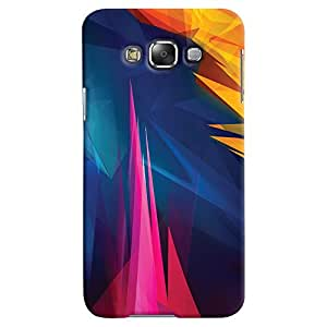 ColourCrust Samsung Galaxy E7 Mobile Phone Back Cover With Abstract Art - Durable Matte Finish Hard Plastic Slim Case