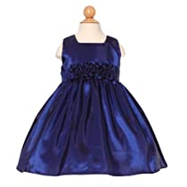 Sweet Kids Navy Dress Size 7 Flower Girl Taffeta Special Occasion