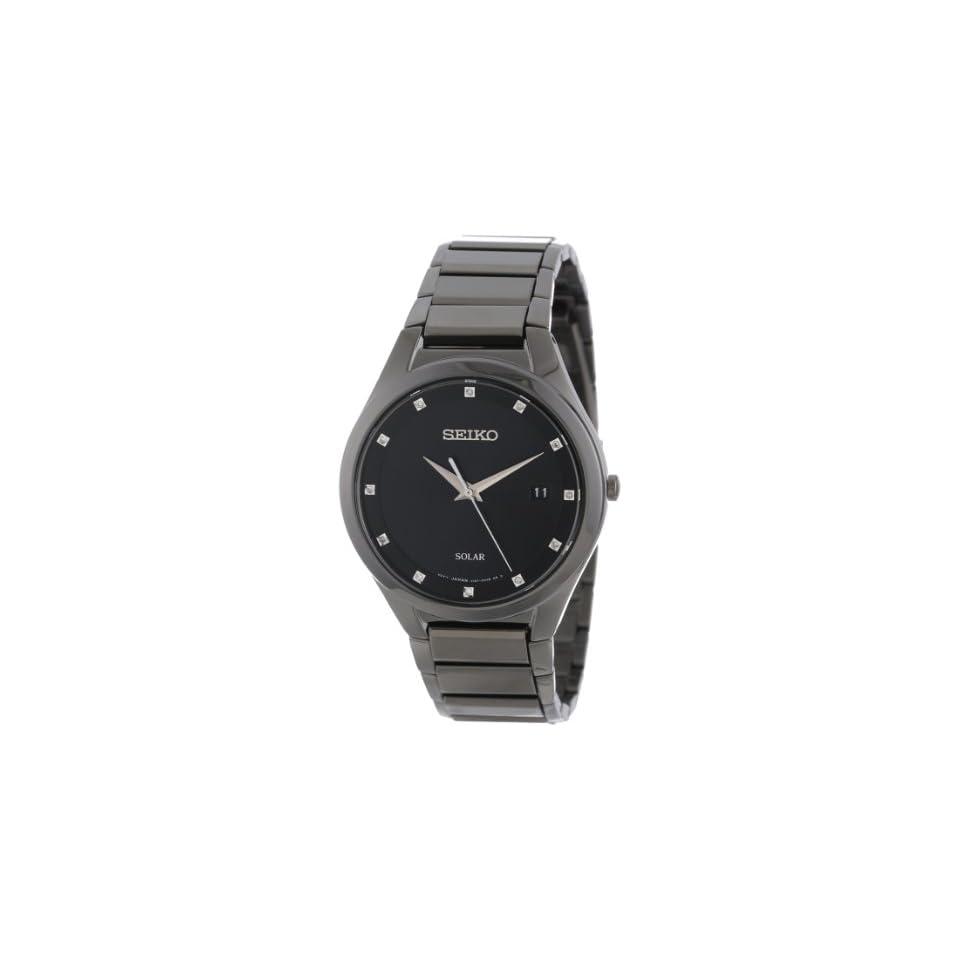 Seiko Mens SNE243 Solar Stainless Steel Dress Watch