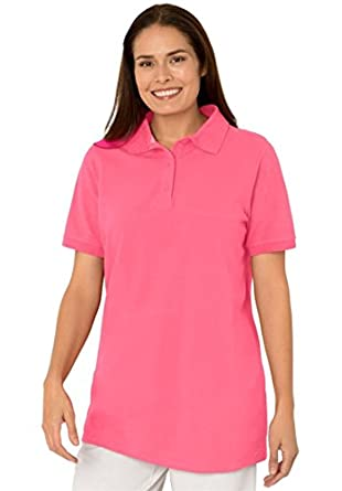 Women 39 S Plus Size Short Sleeve Pique Knit Polo Shirt At