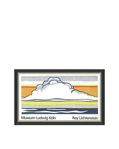 Roy Lichtenstein Cloud And Sea (Printed In 1989) Framed Poster