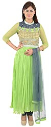 Wedding Pearls Women's Dress ( Light Green)