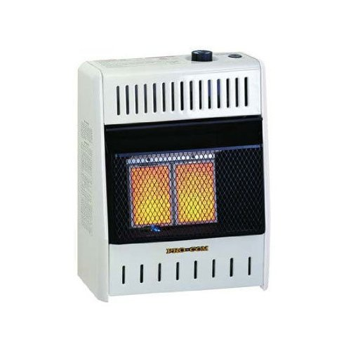 ProCom Vent-Free Dual Fuel Infrared Radiant Wall Heater - 2-Plaque, 10,000 BTU (Duel Propane Heater compare prices)