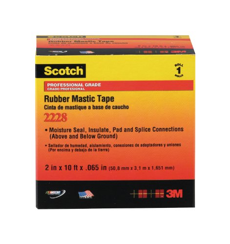 Scotch Rubber Mastic Electrical Tape, 1-Inch by 10-Foot by .065-Inch