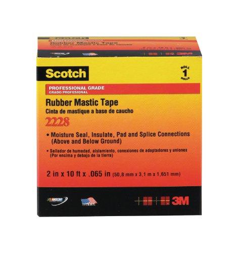 3M COMPANY 2228 Rubber Mastic Tape, 1 x 10-Inch image
