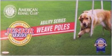 American Kennel Junior Series Dog Agility Weave Poles