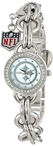 Game Time Ladies NFL-CHM-PIT Charm NFL Series Pittsburgh Steelers 3-Hand Analog Watch by Game Time