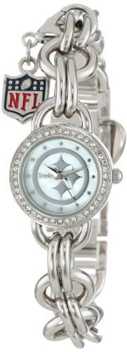 Game Time Women's NFL-CHM-PIT Charm NFL Series Pittsburgh Steelers 3-Hand Analog Watch at Amazon.com
