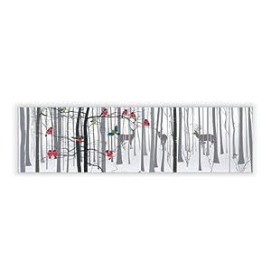 motivscheibe f r ikea wandleuchte gyllen im querformat mit motiv winterwald k che. Black Bedroom Furniture Sets. Home Design Ideas