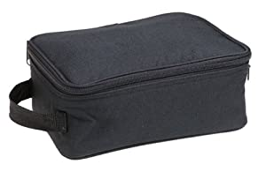 Household Essentials Grooming Travel Bag Organizer, Black