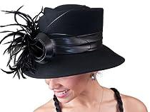 Winter Casual Felt Hat - 466465 (Black)