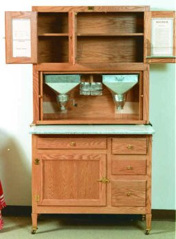 Hoosier Kitchen Cabinet Woodworking Paper Plan, Build Your Own!!
