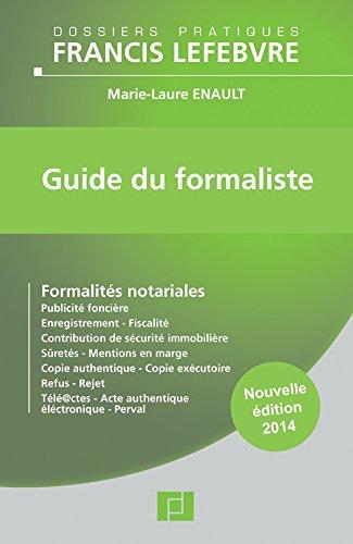 GUIDE DU FORMALISTE 2014