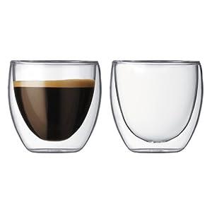 Bodum Pavina双层玻璃精致水杯2件套 2盎司